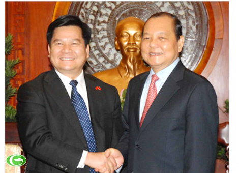 Bí thư Thành ủy Lê Thanh Hải tiếp Tỉnh trưởng tỉnh Vân Nam - Trung Quốc Lý Kỷ Hằng